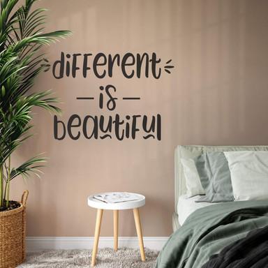 Wandtattoo Different is beautiful