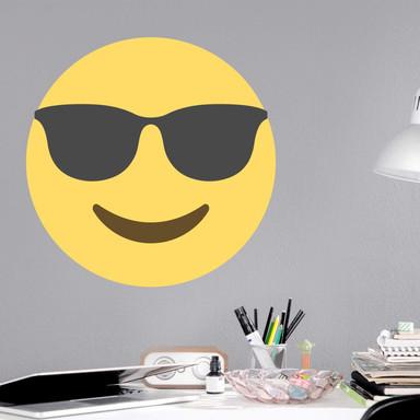 Wandtattoo Emoji Sunglasses