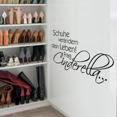Wandtattoo Schuhe verändern dein Leben...