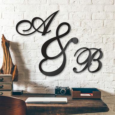 Acrylbuchstaben - Einzelbuchstaben verschnörkelt