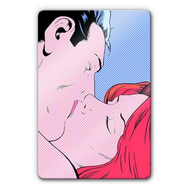 Glasbild Romantic Couple