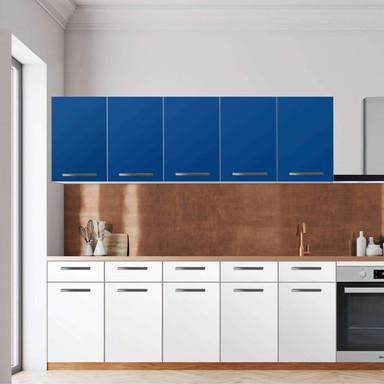 Klebefolie - Wandschrank 200cm Breite - Blau Dark