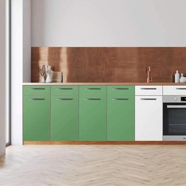 Küchenfolie - Unterschrank 160cm Breite - Grün Light