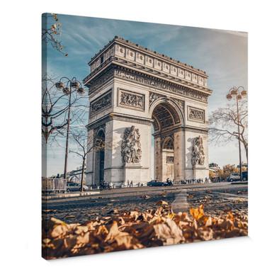 Leinwandbild Arc de Triomphe im Herbst - Quadratisch