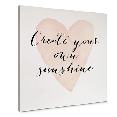 Leinwandbild Confetti & Cream - Create your own sunshine