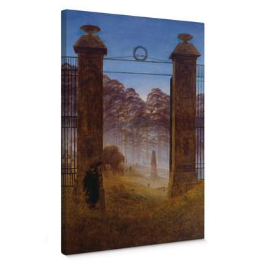Leinwandbild Friedrich - Der Friedhof