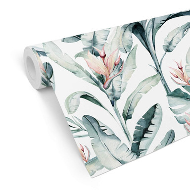 Mustertapete Kvilis - Tropische Blätter