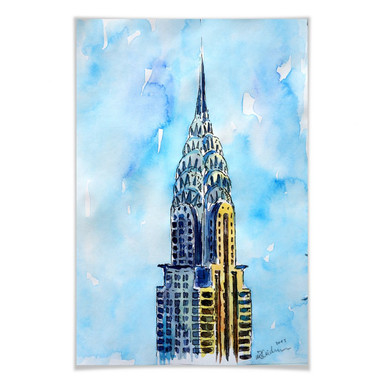 Poster Bleichner - Chrysler Building in NYC