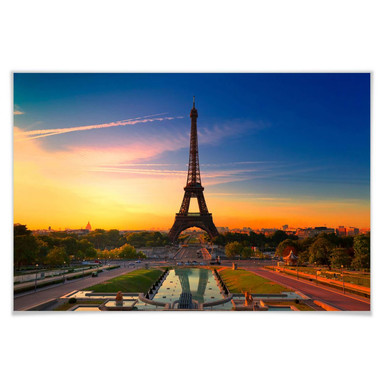 Poster Eiffelturm im Sonnenuntergang