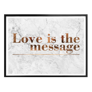 Poster Kupferoptik - Love is the message