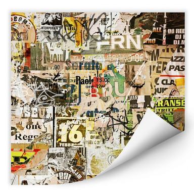Wallprint Abgerissene Poster