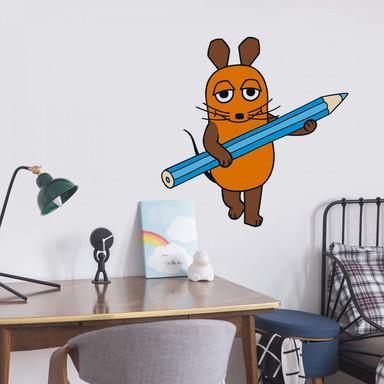 Wandsticker Die Maus Stift