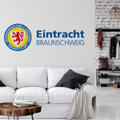 Wandsticker Eintracht Braunschweig Logo mit Schriftzug