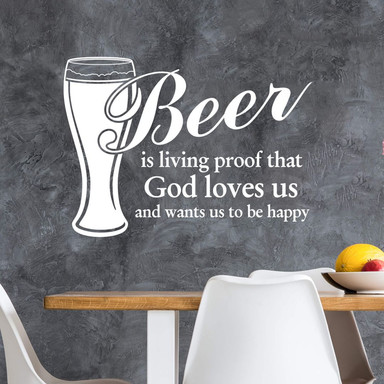 Wandtattoo Beer is living proof...