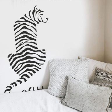 Wandtattoo Tiger Silhouette