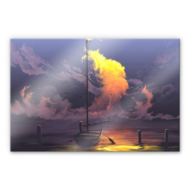 Acrylglasbild aerroscape - Segelboot