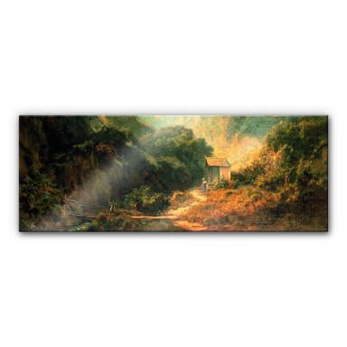 Acrylglasbild Spitzweg - Felsental mit Kapelle - Panorama