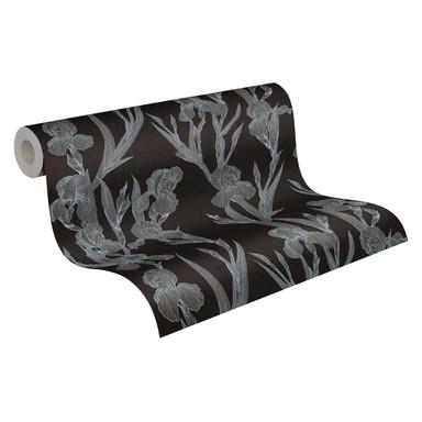 Daniel Hechter Vliestapete Blumentapete floral schwarz, grau, weiss