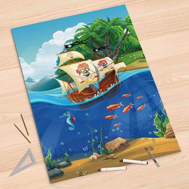 Folienbogen (80x120cm) - Pirates
