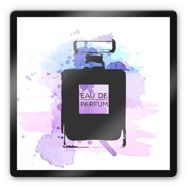 Glasbild Eau de Parfum Aquarell - Grau