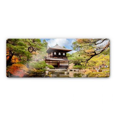 Glasbild Japanischer Tempel 2 Panorama