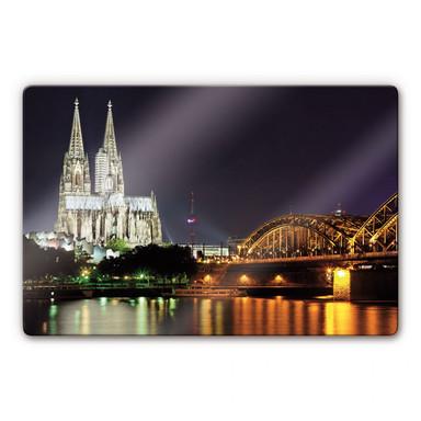 Glasbild Kölner Nacht