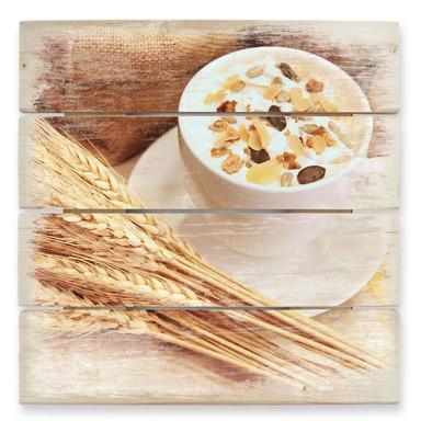 Holzbild Frühstücksstarter - Bild 1