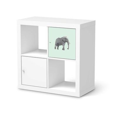 Klebefolie IKEA Expedit Regal Tür einzeln - Origami Elephant- Bild 1