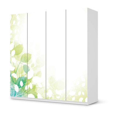 Klebefolie IKEA Pax Schrank 201cm Höhe - 4 Türen - Flower Light- Bild 1