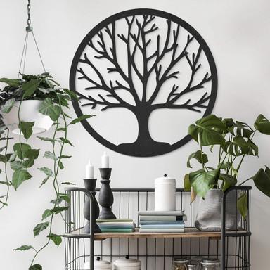 MDF - Holzdeko Baum des Lebens - Rund