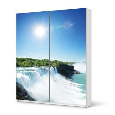Möbelfolie IKEA Pax Schrank 236cm Höhe - Schiebetür - Niagara Falls