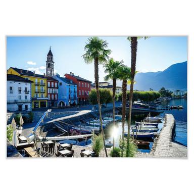 Poster Hafen am Lago Maggiore