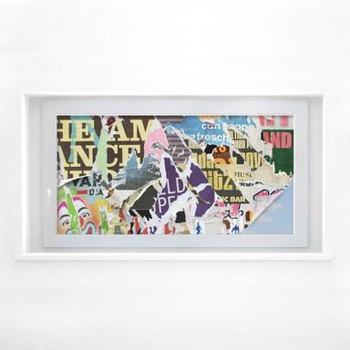 Sichtschutzfolie Abgerissene Poster 2 - Panorama