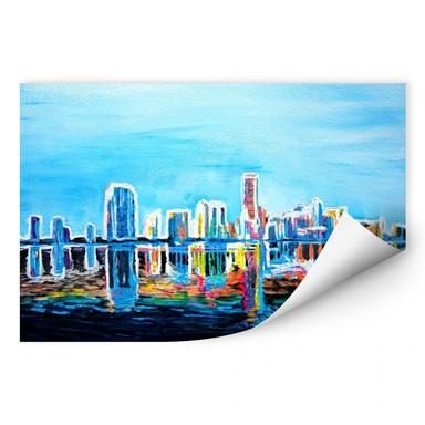 Wallprint Bleichner - Miami im Neonschimmer