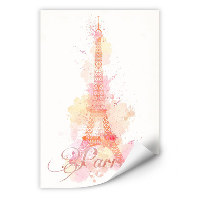 Wallprint La Tour Eiffel Aquarelle