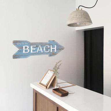 Wandsticker Ab zum Strand