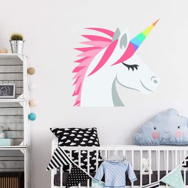 Wandtattoo Emoji Unicorn