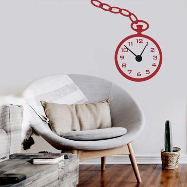 Wandtattoo + Uhr Taschenuhr