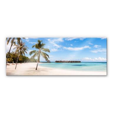 Acrylglasbild Colombo - Wasserbungalows auf den Malediven