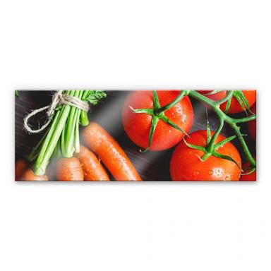 Acrylglasbild Fresh Cooking - Panorama