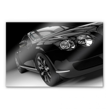 Acrylglasbild Metallic Car Black 02