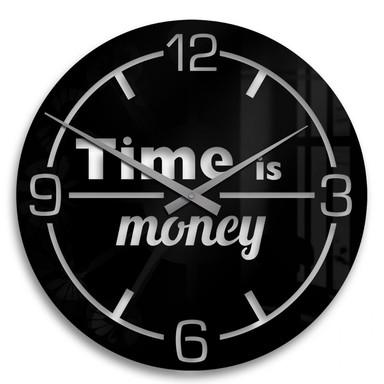 Acrylglasbild Time is money Uhr