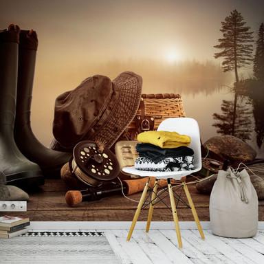 Fototapete Angler Stillleben - 336x260cm - Bild 1
