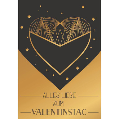 Gutschein Valentinstag - Modernes Herz