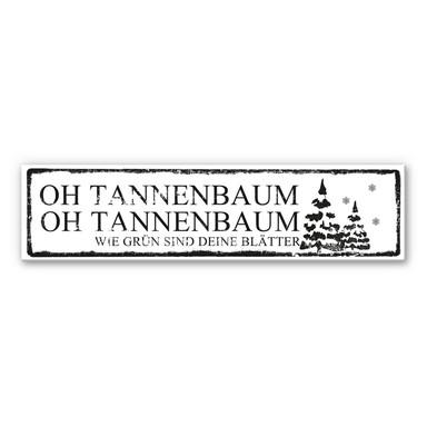 Hartschaumbild Oh Tannenbaum...  inkl. 8 Klebepads
