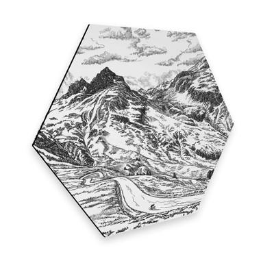 Hexagon - Alu-Dibond Sparshott - Col du Glandon