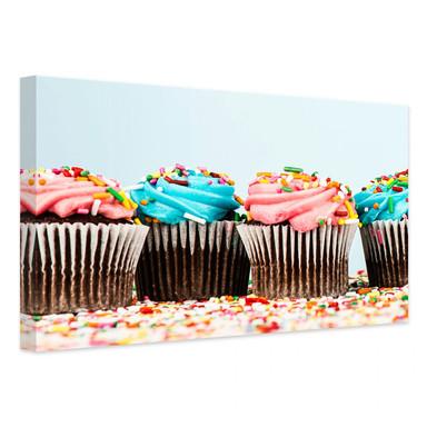 Leinwandbild Party Cupcakes