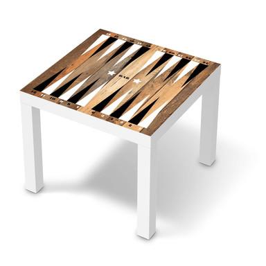 Möbelfolie IKEA Lack Tisch 55x55cm - Spieltisch Backgammon Schwarz-weiss