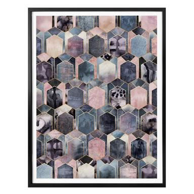 Poster Fredriksson - Art Deco: Traum in Rosé und Gold