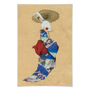 Poster Loske - Geisha Kaninchen 01